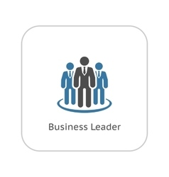 Business Leader Icon Flat Design vector image
