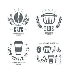 Cafe and cake emblems and icons vector