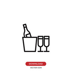 champagne icon vector image