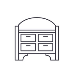 chest of drawers line icon concept chest of vector image