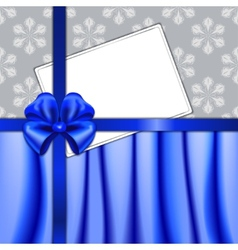 Christmas card with ribbon and textile vector image