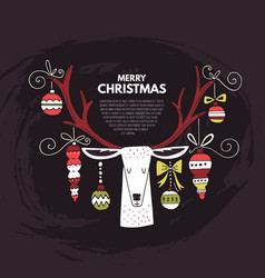 christmas concept with a deer vector image