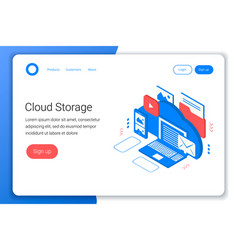 cloud storage isometric concept vector image