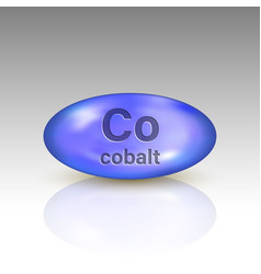 Cobalt icon mineral drop pill capsule vector