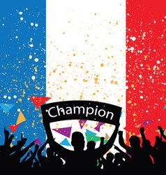 crowd cheer france vector image vector image