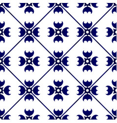 Cute pattern blue and white vector