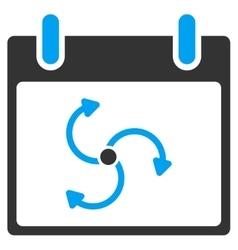 Cyclone Calendar Day Toolbar Icon vector