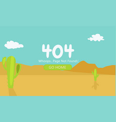 desert with cacti page 404 not found vector image
