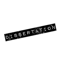 Dissertation rubber stamp vector