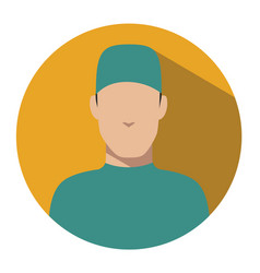 doctor web icon surgeon avatar vector image