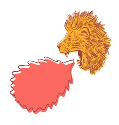 Drawing lion speech bubble vector