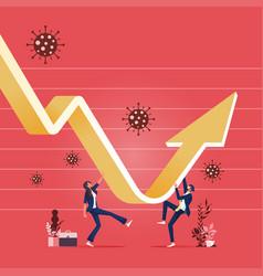 Economic recovery concept vector