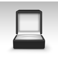 Empty Black Velvet Opened gift jewelry box vector