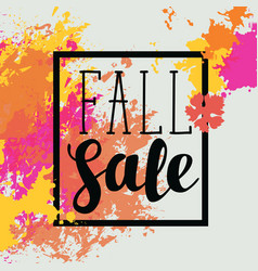 fall sale banner with bright abstract spots vector image