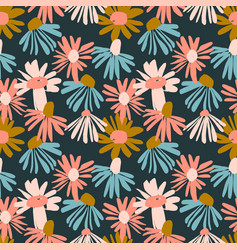 floral seamless pattern design vector image