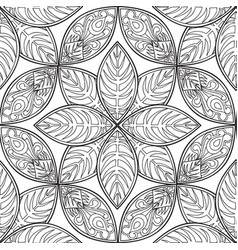 floral seamless pattern linear ornament abstract vector image