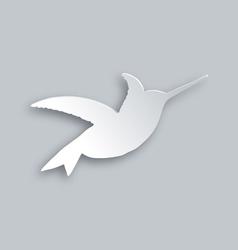 Flying hummingbird vector