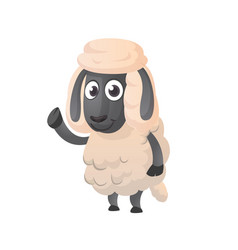 Funny cartoon sheep vector