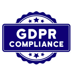 Gdpr compliance seal template vector