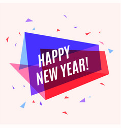 geometrical colorful banner happy new year speech vector image