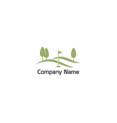 golf flag landscape nature company logo vector image