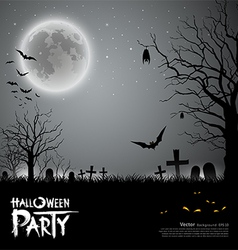 Halloween party scary background vector