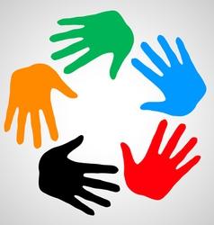 Hands of friendship vector image