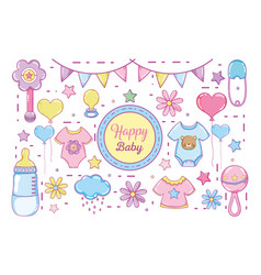 Happy baby cartoons vector