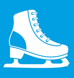 ice skate icon white vector image