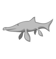 ichthyosaur icon monochrome vector image