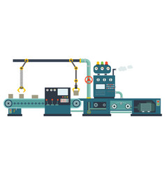 Industrial factory construction equipment vector