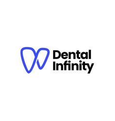 infinity dental dentist tooth teeth mobius logo vector image