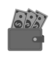 Isolated bills and wallet design vector