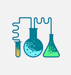 Laboratory tubes icon - chemistry and science vector