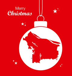 merry christmas theme with map of portland oregon vector image