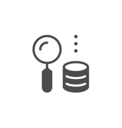 money searching icon and finance concept vector image