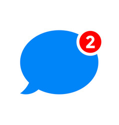 new chat message notification icon vector image
