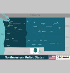 northwestern of united states vector image