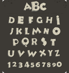 old stone alphabet vector image