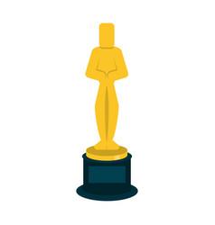 oscar award trophy vector image
