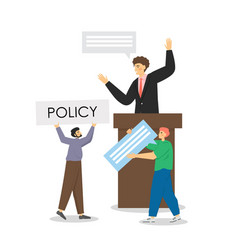 policy speech flat style design vector image
