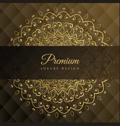 Premium mandala golden background design vector