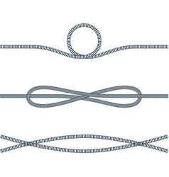 Rope used in sea adventures vector
