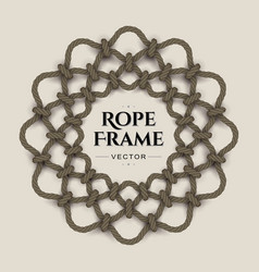 round rope frame vector image