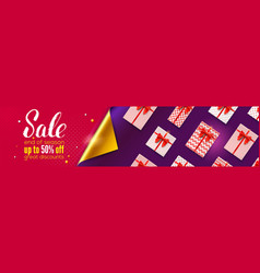 sale end season up to 50 percent off sale ad vector image