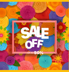 season sale off concept background vector image