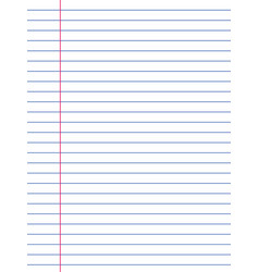 Sheets lined paper with border from a vector