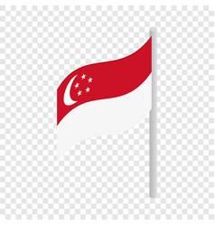 singapore flag isometric icon vector image