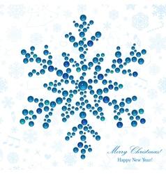 Snowflake made beads vector