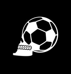 Soccer ball skull football fans emblem skeleton vector